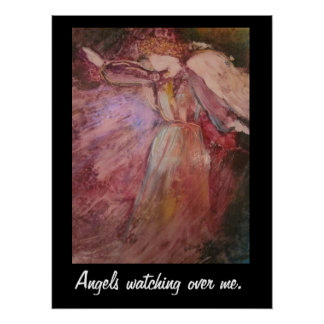 """Angels Watching Over Me"" Poster"