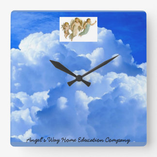 Angel's Way Acrylic Wall Clock