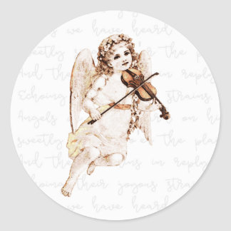 Angels We Have Heard On High Christmas Classic Round Sticker