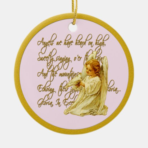 Angels We Have Heard On High Christmas Ornament
