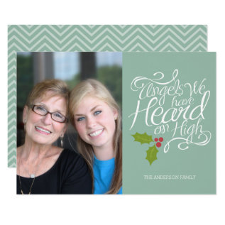 Angels We Have Heard - Whimsical Christmas Photo Card at Zazzle