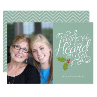 Angels We Have Heard - Whimsical Christmas Photo Card