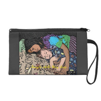 Angels while they sleep. wristlet purse