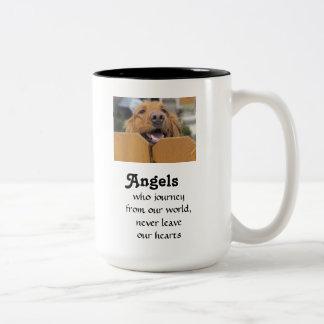 Angels Who Journey Dog Memorial Mug