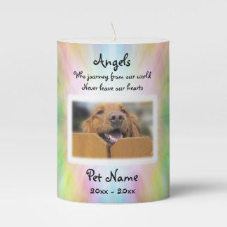 Angels Who Journey Pet Sympathy Candle