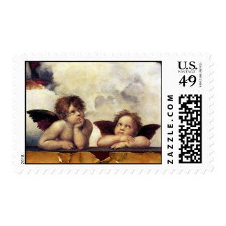 ANGELS / Winged Cherubs Postage Stamp