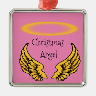 Angels Wings and Halos Customize Metal Ornament