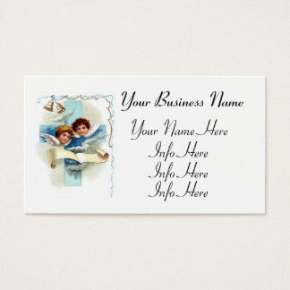 Angels With Cross And Scroll Business Card