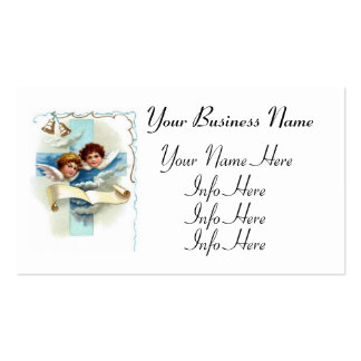 Angels With Cross Scroll And Bells Double-Sided Standard Business Cards (Pack Of 100)
