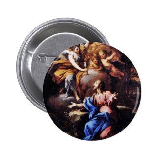 Angels with Jesus in Garden Button