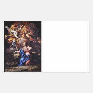 Angels with Jesus in Garden Rectangular Sticker