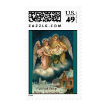ANGELS WITH JESUS IN MANGER POLISH CHRISTMAS POSTAGE