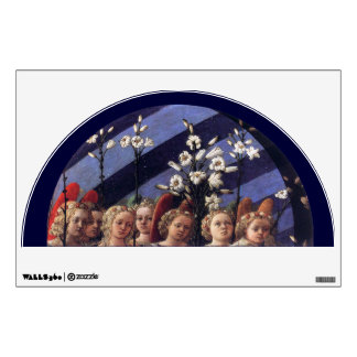 ANGELS WITH WHITE LILIES WALL STICKER