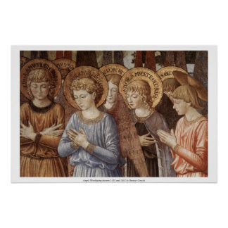Angels Worshipping (Close Up) Poster
