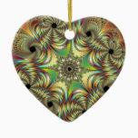 Angelus Fractal Ceramic Ornament