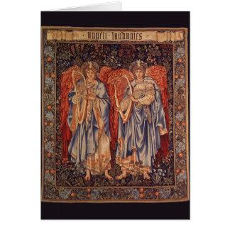 Ángelus Laudantes ángeles del vintage de Burne Jo Tarjetas