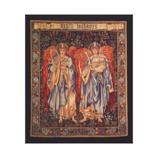 Ángelus Laudantes, ángeles del vintage de Burne Impresión De Lienzo