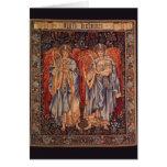 Ángelus Laudantes, ángeles del vintage de Burne Tarjetas