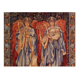 Ángelus Laudantes, ángeles del vintage de Burne Tarjetas Postales