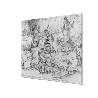 Anger, 1557 canvas print