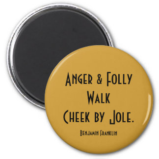 anger and folly magnet