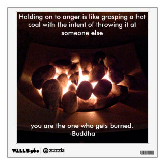 Anger Buddha Quote Wall Decal