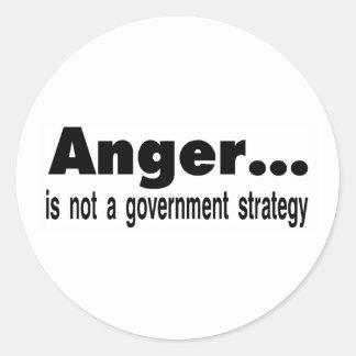 anger classic round sticker