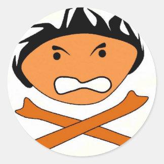 Anger cross sticker