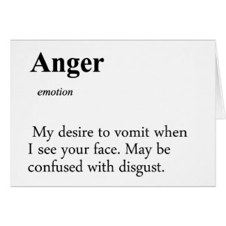 Anger Definition Card