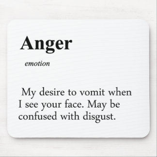 Anger Definition Mouse Pad