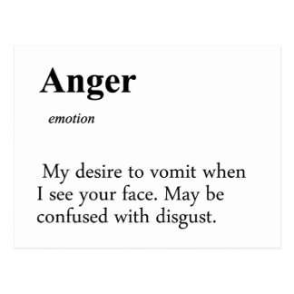 Anger Definition Post Cards