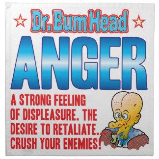 ANGER Dr Bum Head Napkins