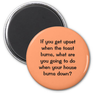 anger. food for thought 2 inch round magnet