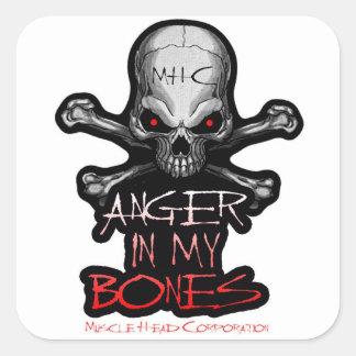 Anger In My Bones Square Sticker