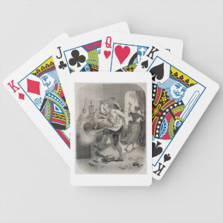 Anger in the Kitchen, from a series of prints depi Bicycle Playing Cards