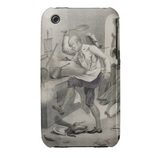 Anger in the Kitchen, from a series of prints depi Case-Mate iPhone 3 Cases