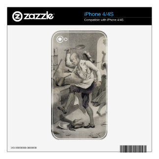 Anger in the Kitchen, from a series of prints depi Decals For iPhone 4S