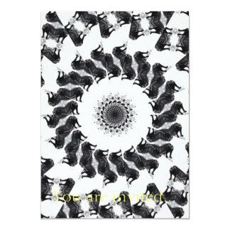 Anger Kaleidoscope 11 5x7 Paper Invitation Card