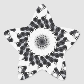 Anger Kaleidoscope 11 Star Sticker