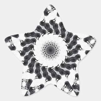 Anger Kaleidoscope 11 Star Stickers