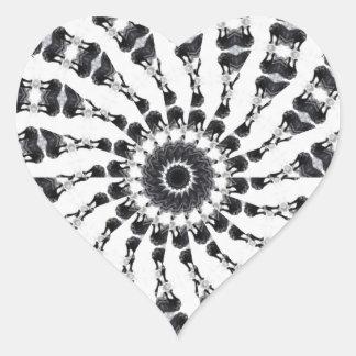 Anger Kaleidoscope 13 Heart Sticker