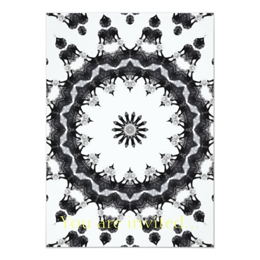 Anger Kaleidoscope 15 5x7 Paper Invitation Card