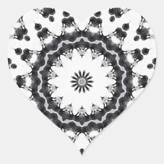 Anger Kaleidoscope 15 Heart Stickers