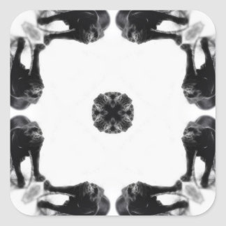 Anger Kaleidoscope 16 Square Stickers