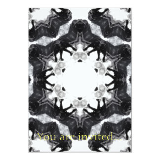 Anger Kaleidoscope 4 5x7 Paper Invitation Card