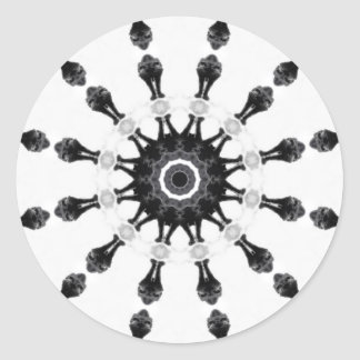 Anger Kaleidoscope 5 Round Sticker