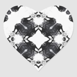 Anger Kaleidoscope 6 Heart Stickers