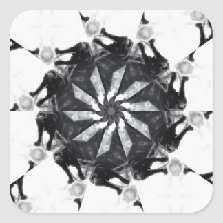Anger Kaleidoscope 7 Square Stickers