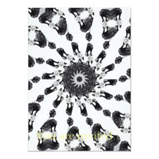 Anger Kaleidoscope 8 5x7 Paper Invitation Card