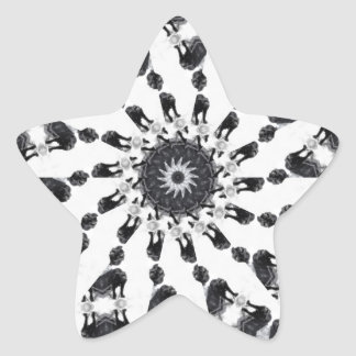 Anger Kaleidoscope 8 Star Sticker